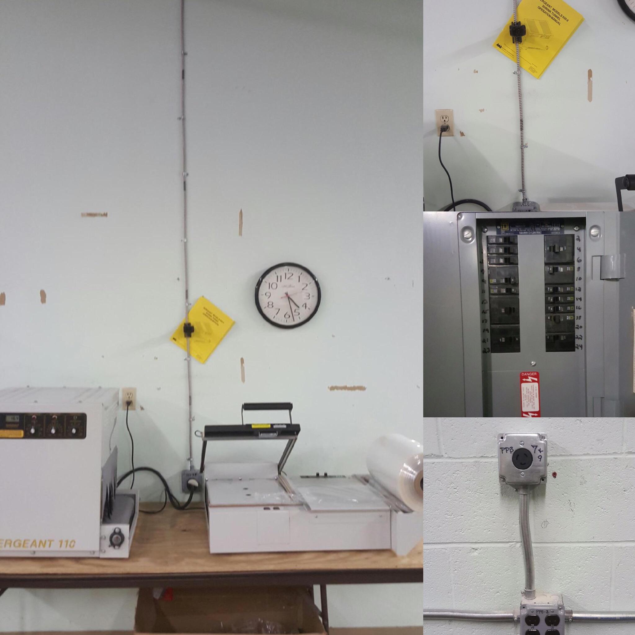 electrical equipment hookup