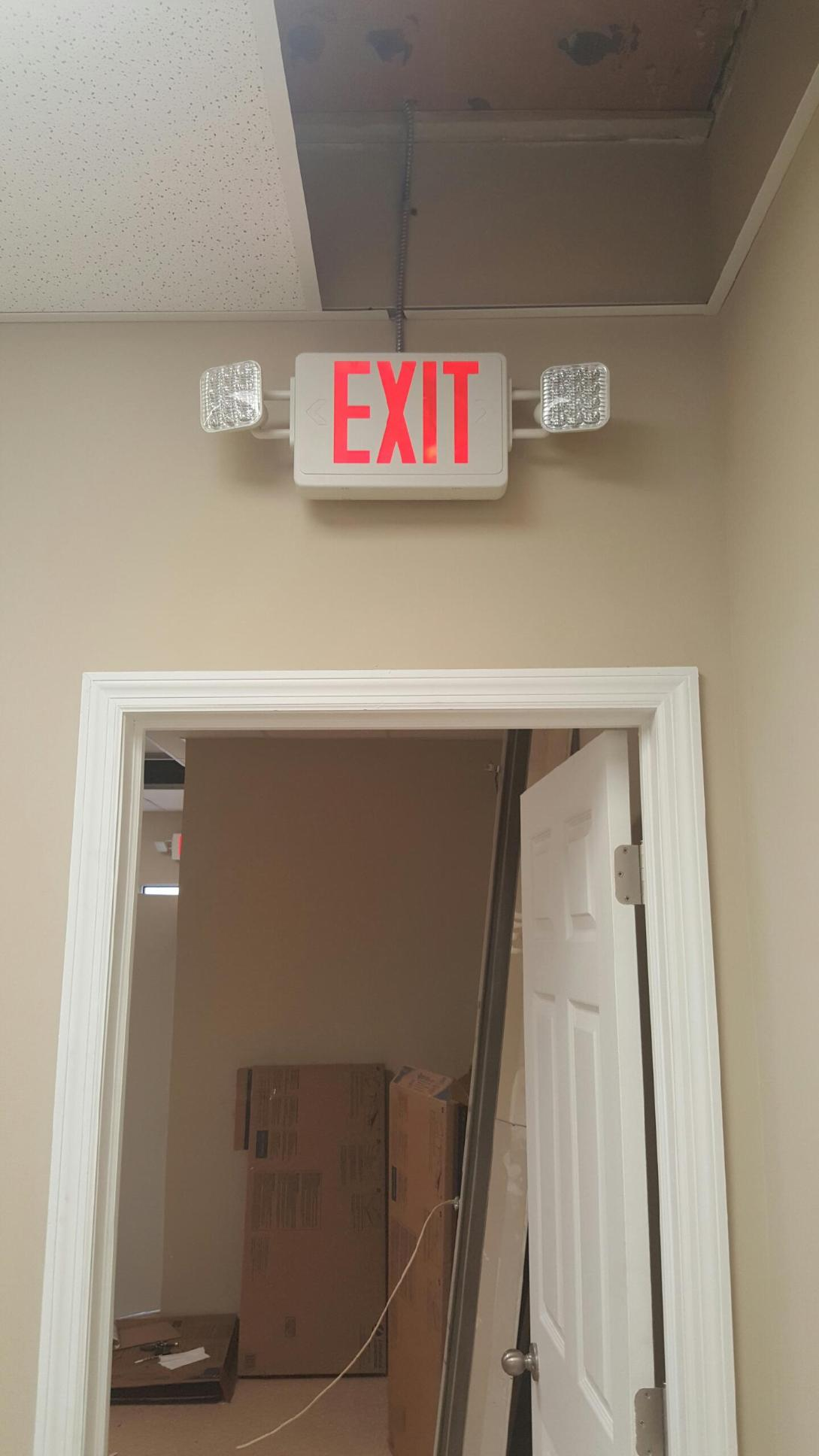 exit sign lighting
