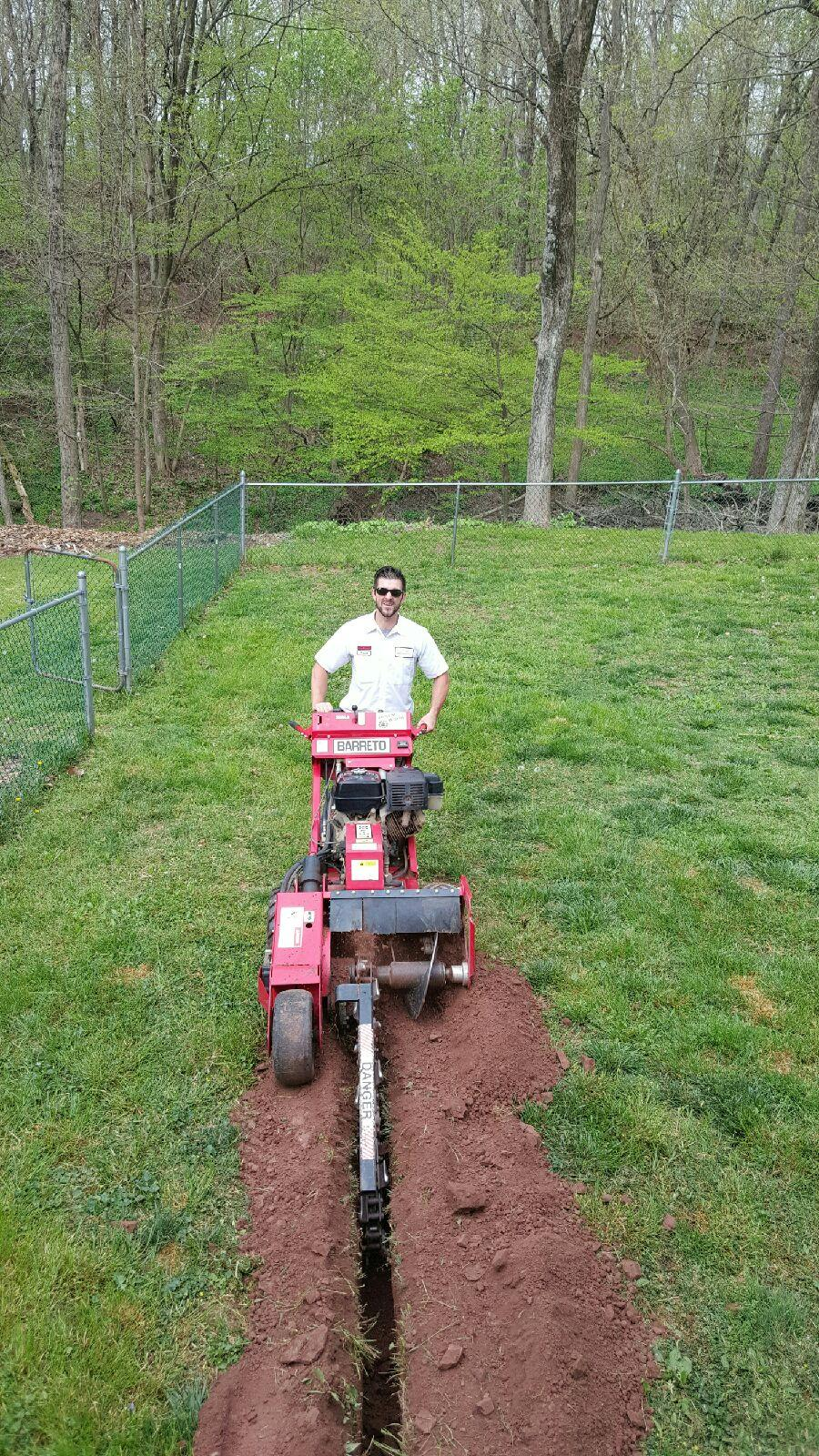 trenching for pool wiring